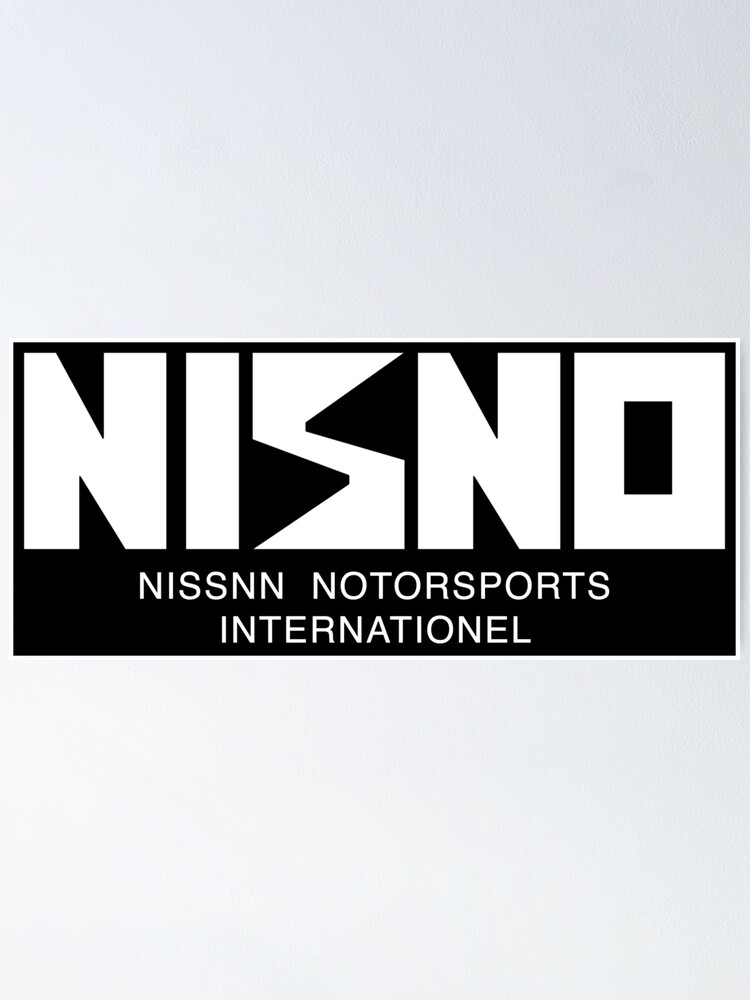 nisno initial d nismo old logo spoof white poster by teamalphari redbubble redbubble