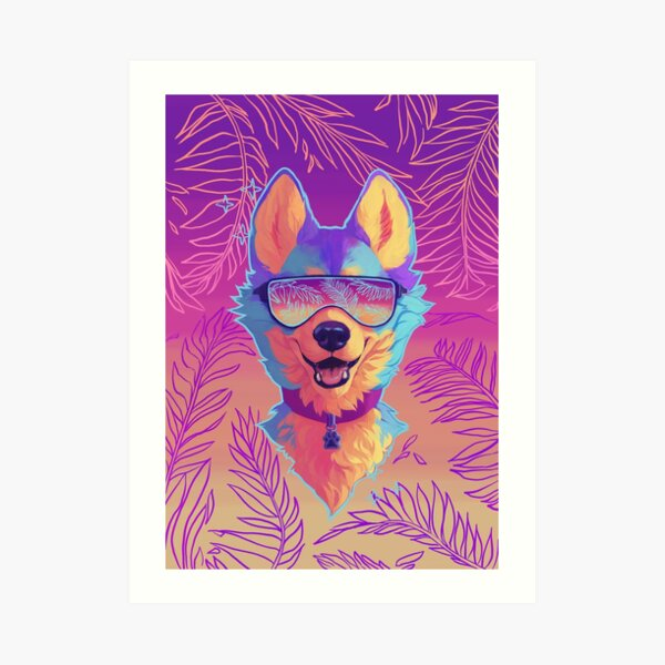 sparkle dog Art Print