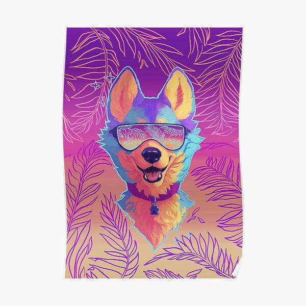 sparkle dog Poster