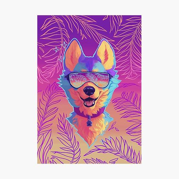 sparkle dog Photographic Print
