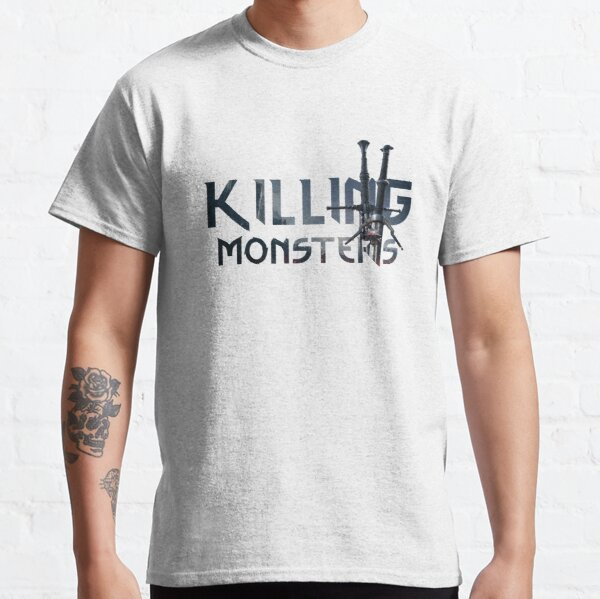 Killing Monsters Swords Text Classic T-Shirt