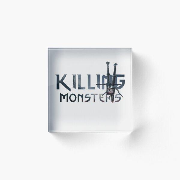Killing Monsters Swords Text Acrylic Block