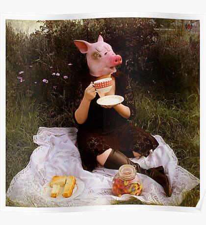 Teacup Pig Poster