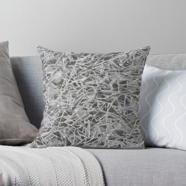 Crackled Ice Throw Pillow