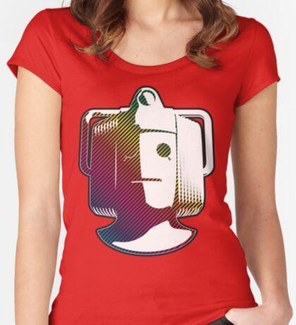 Cyberman - Rainbow Women's Fitted Scoop T-Shirt