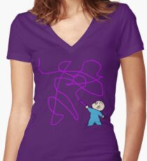 Harold and the purple crayon Women's Fitted V-Neck T-Shirt