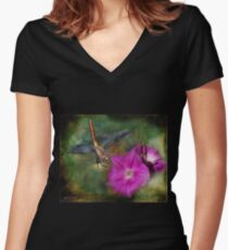 Because (Favorites: 52) Women's Fitted V-Neck T-Shirt