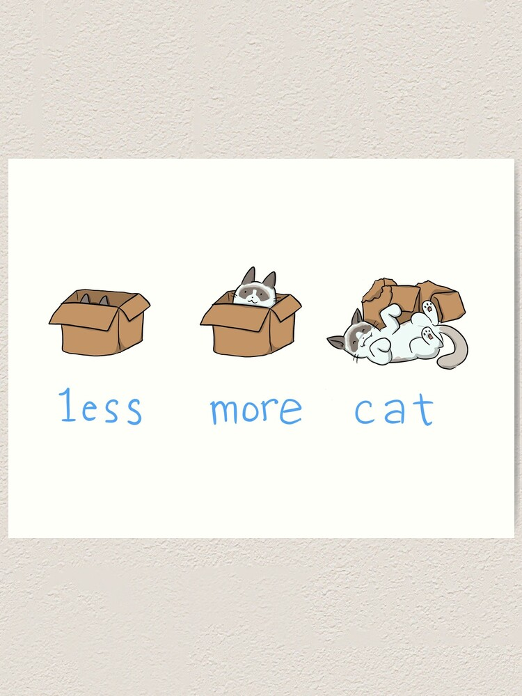 Alternate view of Less is more Art Print