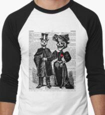 Calavera Couple Men's Baseball ¾ T-Shirt