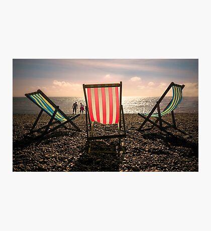 Evening walk on the beach Photographic Print