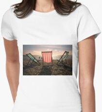 Evening walk on the beach Women's Fitted T-Shirt