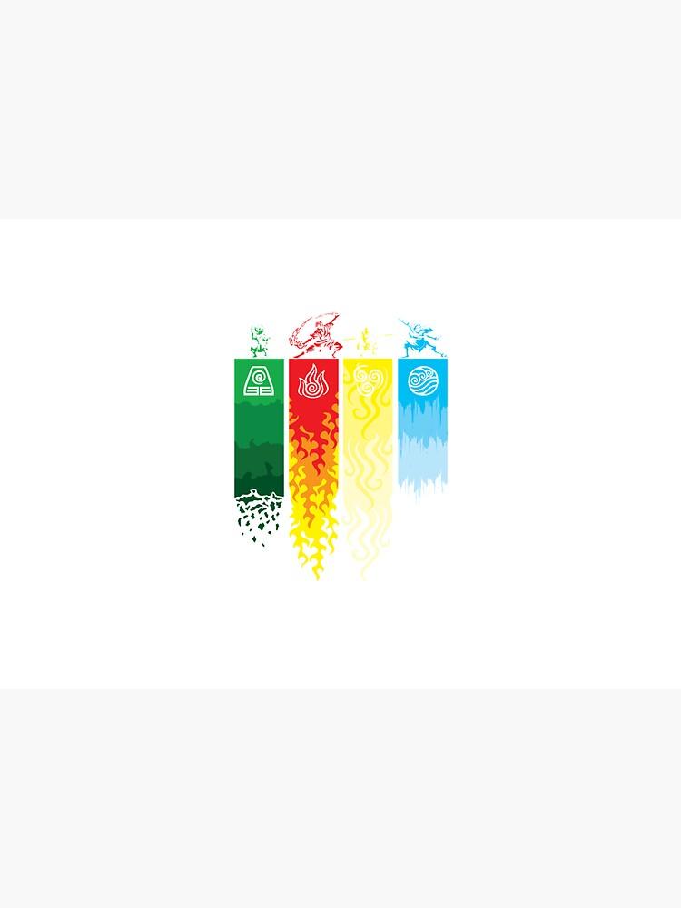 Element Symbols Avatar The Last Airbender by chrismick42
