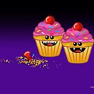 CUPCAKE CANNIBALS ART by matt40s