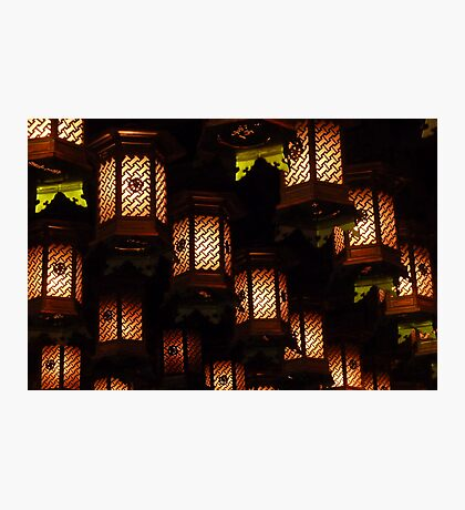 Henjokutsu Cave lamps, Japan Photographic Print