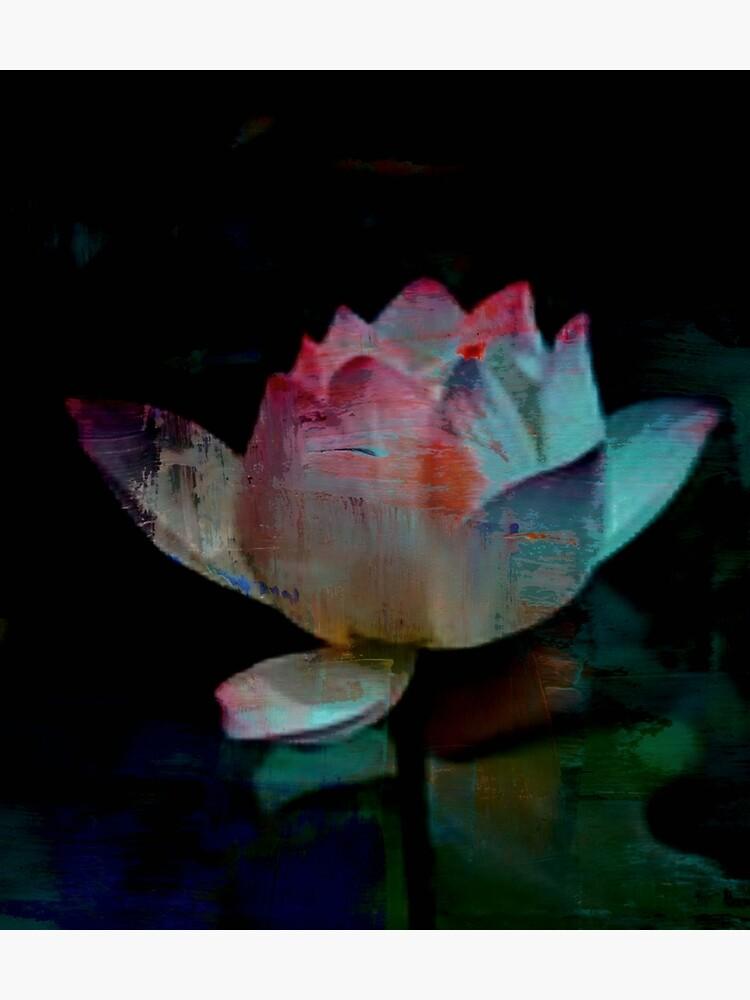 Lotus In Blue - Digital Art by avalonmedia