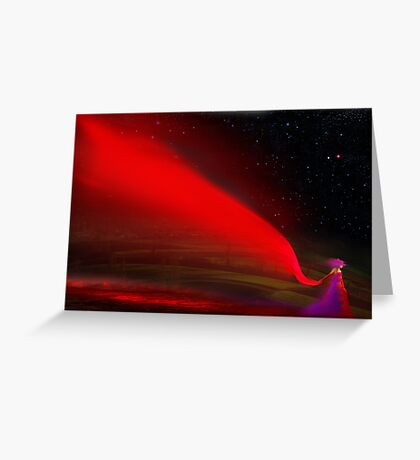 Red Night Greeting Card