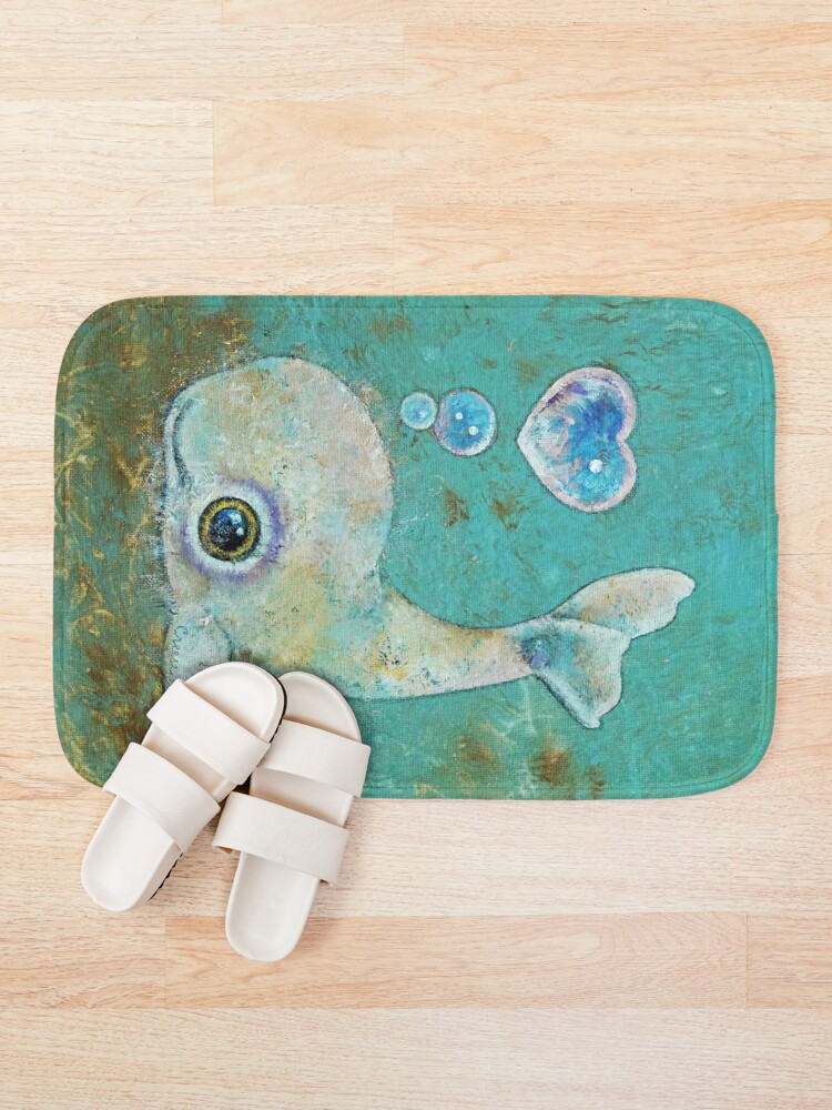 Alternate view of Baby Whale Bath Mat