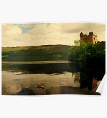 """""""CALM ON THE LOCH"""" Poster"""