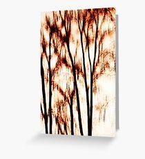 shadows of trees III Greeting Card