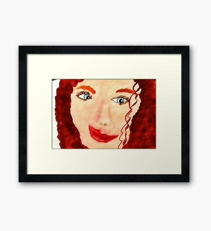 Carrie 2nd portrait, watercolor Framed Print