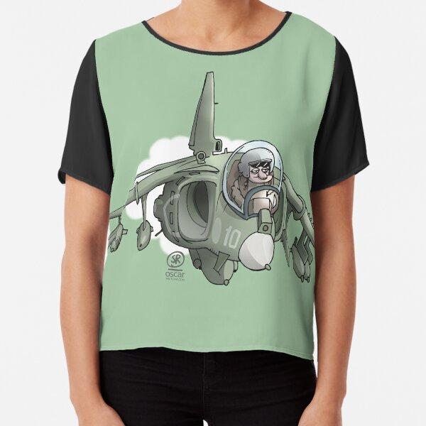 Harrier Flugzeug Chiffon Top
