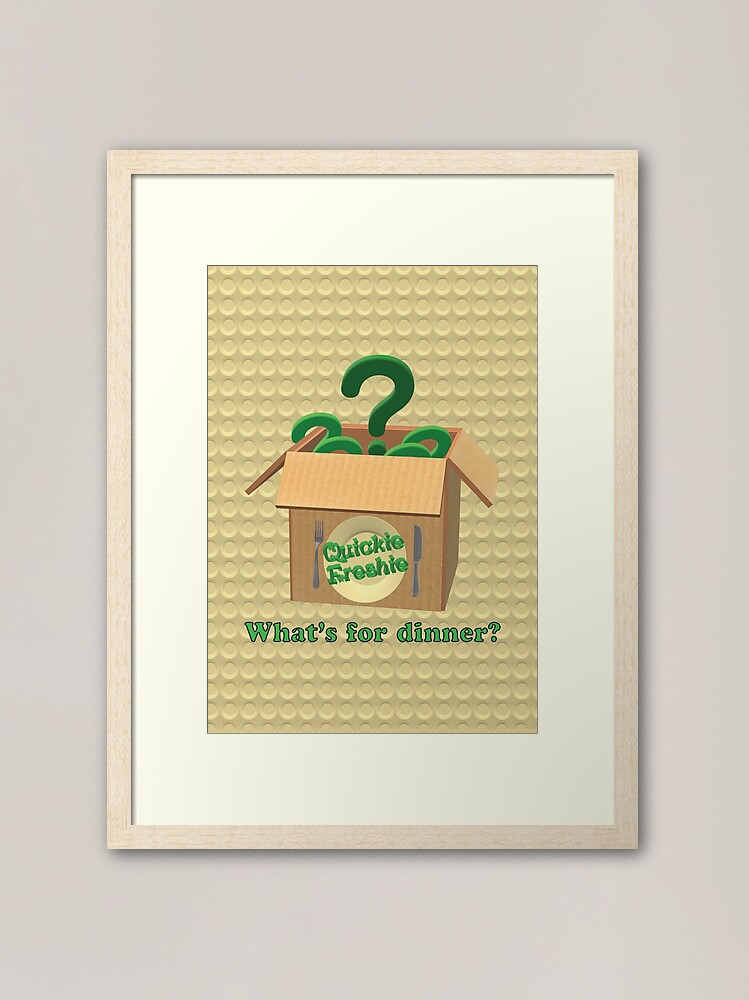Alternate view of What's for dinner? Cooking in the 21st Century. Framed Art Print
