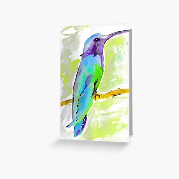 Hummingbird watercolour Greeting Card
