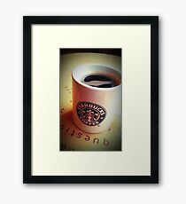 Coffee is for life, not just for Christmas... Framed Print