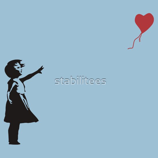 TShirtGifter presents: Banksy - Little girl with red balloon