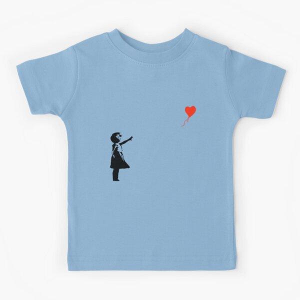 Banksy - Niña con globo rojo Camiseta para niños