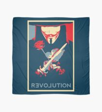 Guy Fawks Revolution/Love hope poster  Scarf