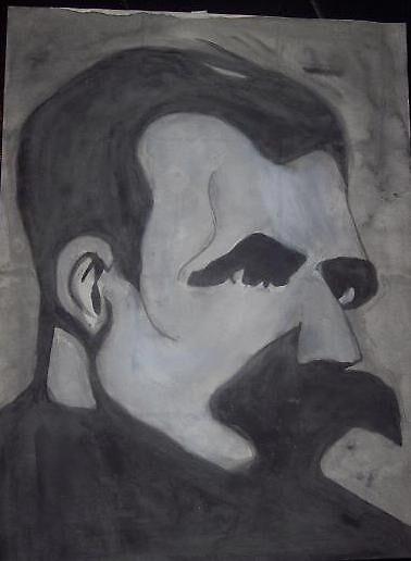 nietzsche watercolor by visceralrevolt