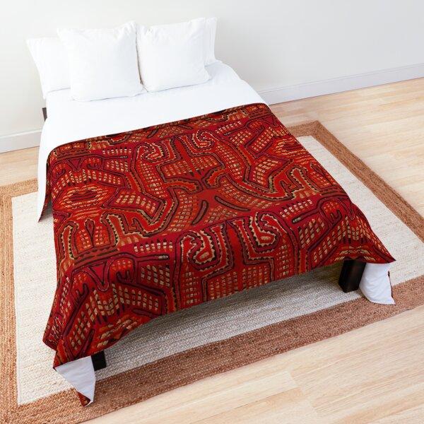 Cuna Folk Art Shaman Vision Comforter