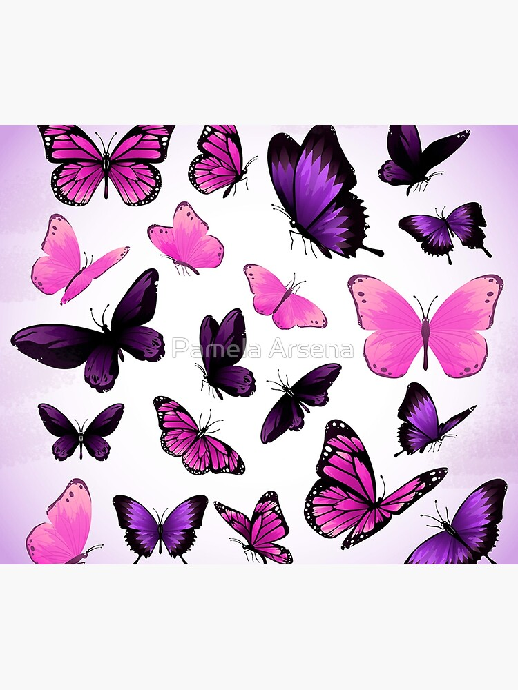 Butterflies Pastel Girly Animal Print by xpressio