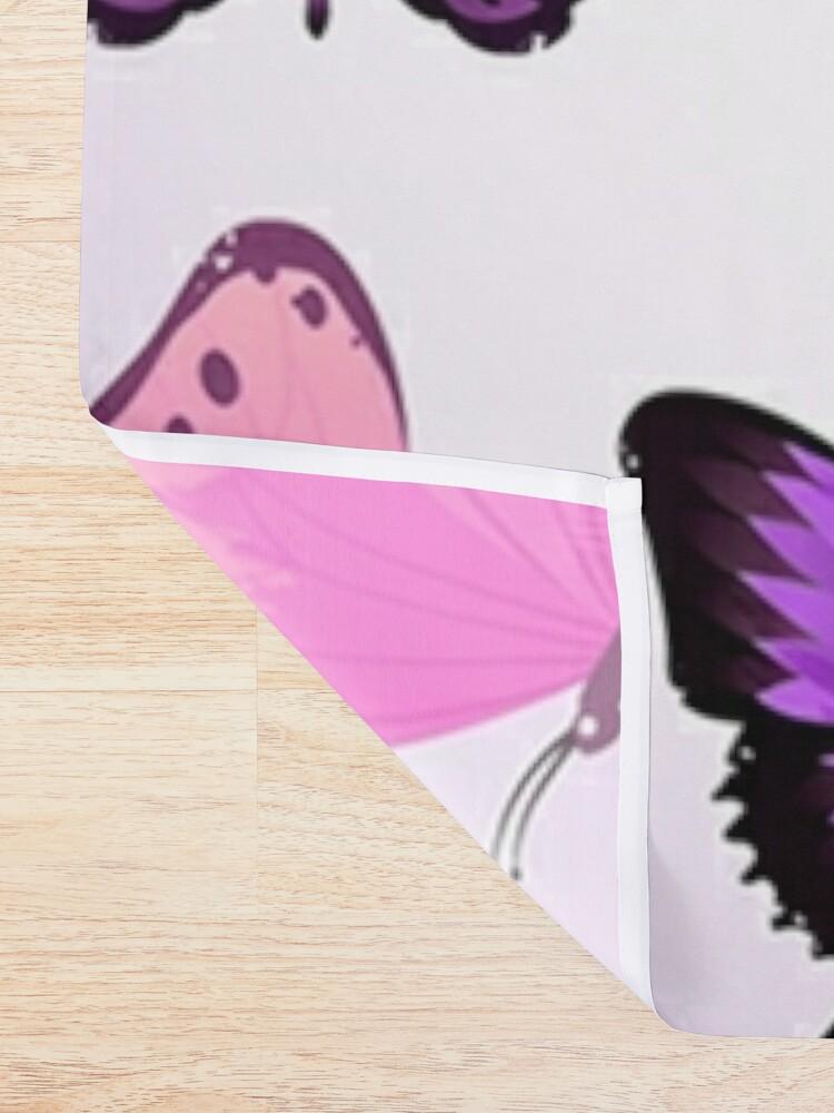 Alternate view of Butterflies Pastel Girly Animal Print Shower Curtain
