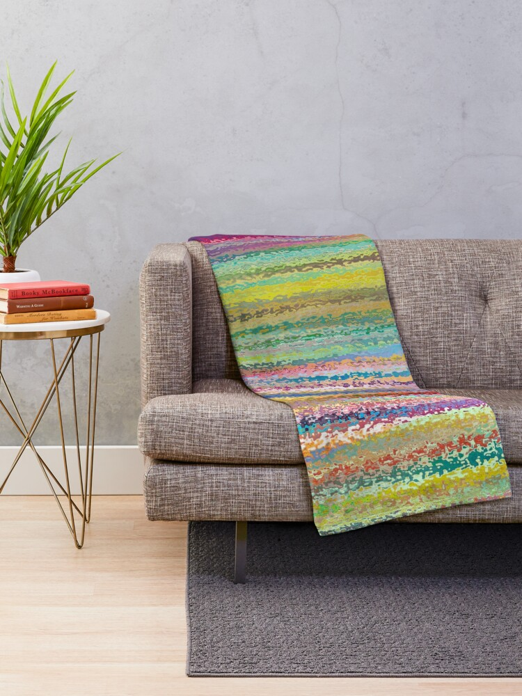 Alternate view of Stained Glass Bohemian Mosaic  Throw Blanket