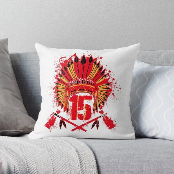 The Big Chief Patrick Mahomes  Throw Pillow