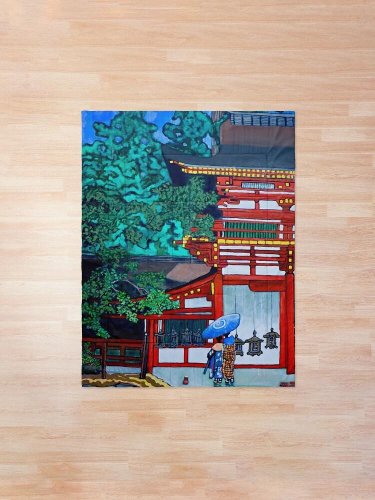 Alternate view of Kasuga Shrine, Nara Comforter