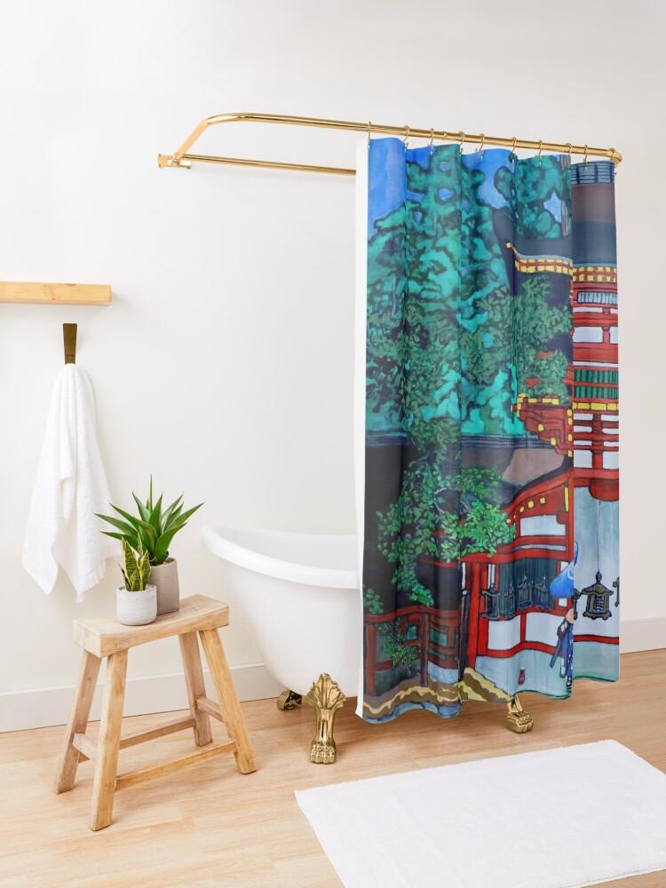 Alternate view of Kasuga Shrine, Nara Shower Curtain