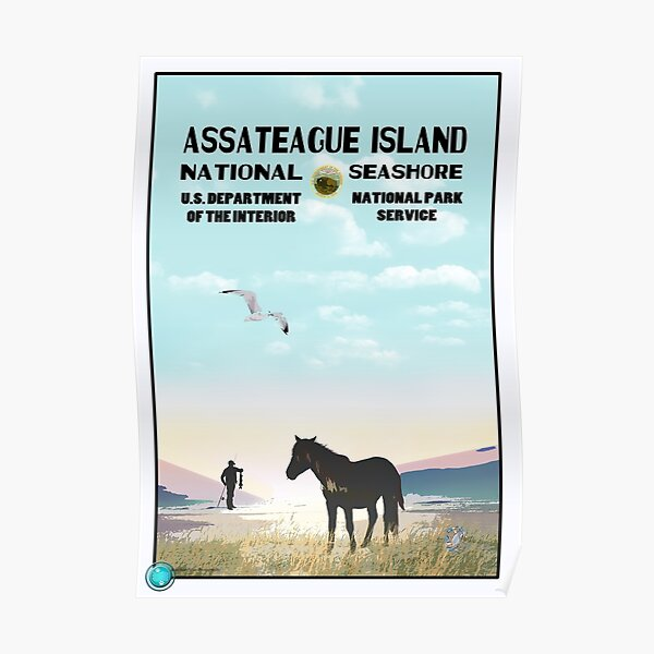 WPA Style Assateague Seashore Poster