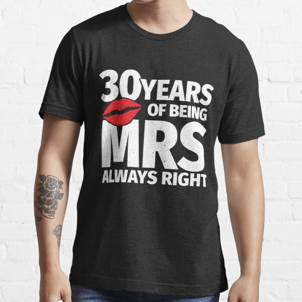 Matching Married Couples Gift - 30th Wedding Anniversary Essential T-Shirt