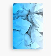 Crumpled paper Canvas Print