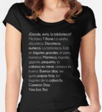¿ Donde Está La Biblioteca  ? Women's Fitted Scoop T-Shirt