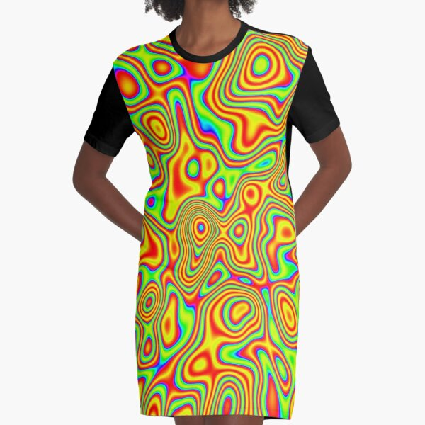 Want colors? Graphic T-Shirt Dress