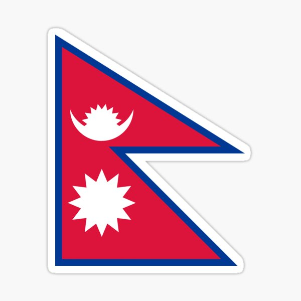 Nepal Flag Stickers, Gifts and other Goodies Sticker