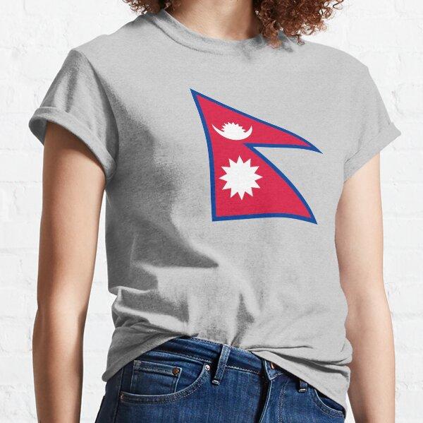 Autocollants, cadeaux et autres goodies pour le drapeau du Népal T-shirt classique