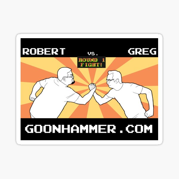ROB VS GREG NOVA 2019 Sticker