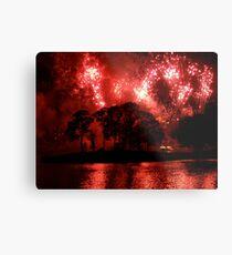 Fireworks at Disney Metal Print