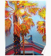 Rainbow Palms Poster