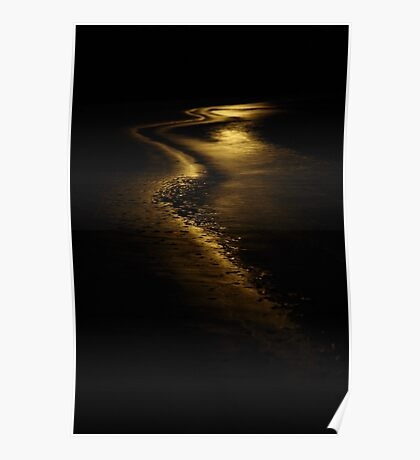 moon light. anderson inlet, victoria Poster